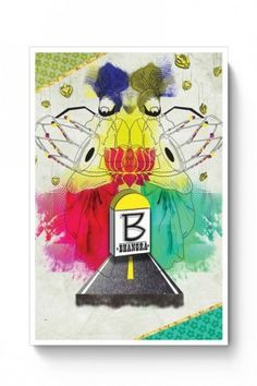 B for bhangra poster