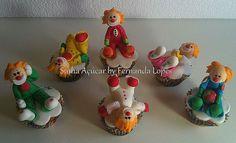 Cupcakes fanfarrões … Palhacinhos !!!