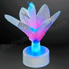 """Light Up Flower Decorations are perfect for the comfort of your home, centerpieces at your magical events or as a """"thinking of you"""" gift that lasts forever! #FBL can help you make memories here -- http://www.flashingblinkylights.com/light-up-products/light-up-decorations/led-party-centerpieces/lightupflowerdecorations.html"""
