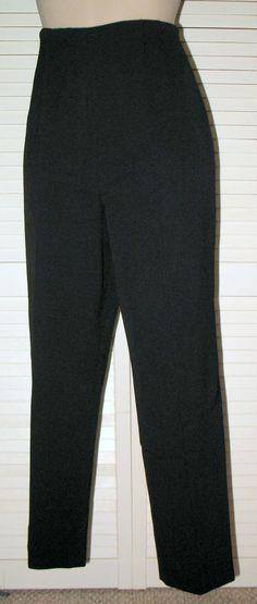 TALBOTS Petites Stretch Wool Gabardine Trouser Pants 12P Black NWOT Side Zip #TALBOTSPETITES #StretchTrouser