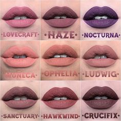 Earlier this afternoon, Kat Von D released swatches of TWENTY FIVE new Everlasting Liquid Lipstick shades launching in The KVD Beauty and her personal Kat Von D Makeup, Kat Von D Lipstick, Kiss Makeup, Love Makeup, Beauty Makeup, Hair Makeup, Hair Beauty, Kat Von D Eyeshadow, Amazing Makeup