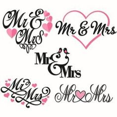 Mr. and Mrs. Wedding Cuttable Design Cut File. Vector, Clipart, Digital Scrapbooking Download, Available in JPEG, PDF, EPS, DXF and SVG. Works with Cricut, Design Space, Sure Cuts A Lot, Make the Cut!, Inkscape, CorelDraw, Adobe Illustrator, Silhouette Cameo, Brother ScanNCut and other compatible software.