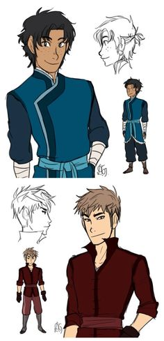 Attack on Titan / Avatar ~~ Jean and Marco as benders :: Artwork and story by http://lemonorangelime.tumblr.com ( 1 of 3 )