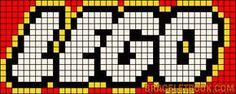 Alpha friendship bracelet pattern added by chirintina. Crochet Lego, Crochet Alphabet, Embroidery Alphabet, Learn Embroidery, Graph Crochet, Perler Bead Templates, Perler Patterns, Loom Patterns, Beading Patterns