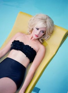 Ruffle Bandeau Bikini As seen on Style Me Pretty by CherriesSwim, $125.00