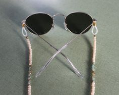ivory turquoise gold sunglass chains eyeglass by StringEmAlong
