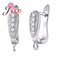 3e9883854 JEXXI Promotion Factory Price 925 Sterling Silvre Jewelry Accessories for  Women Clear Rhinestone Hoop Earrings Fashion Bijoux