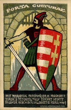 """Régi plakát a múltból, de ma is aktuális! - """"Mit marjátok mindnyájan a magyart? Török s tatártól mely titeket védett / Magyar kezekben villogott a kard. (Petőfi)"""