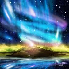 colorful aurora borealis - Google Search