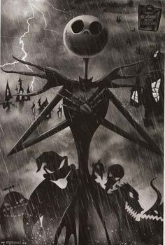 Nightmare Before Christmas Jack Skellington Movie Poster 22x34 – BananaRoad #KingdomHearts #NightmareBeforeChristmas