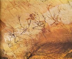 Reindeers in Lascaux (Dordogne), Southwestern France; should be some 15.000 to 17.000 years old.