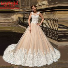 Find More Wedding Dresses Information about Elegant Ball Gown Applique Lace…