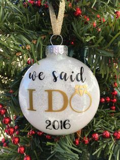 Our First Christmas Ornament Married Just Married Ornament Wedding Christmas Ornament Newlywed Gift