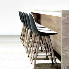 Bar stool / contemporary / fabric / leather EYES : EJ 2 by Foersom & Hiort-Lorenzen Erik Jørgensen