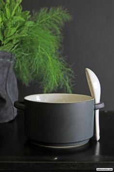 Black Bowl With Spoon - http://www.dedecoration.com/interior-home-design/black-bowl-with-spoon.html