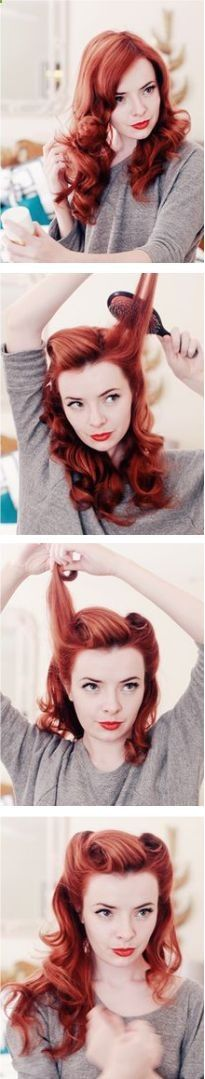 Pinup Victory Rolls tutorial; I want to know how to do this so bad.