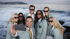 Australian athletes pose in the Opening Ceremony uniforms for the 2016 Rio…