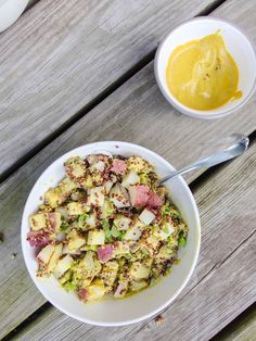 Curry Quinoa Potato Salad - Yup, it's Vegan