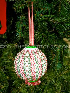 Vertically Smocked Christmas Ornament  http://sewnso.blogspot.com/p/smock-long.html