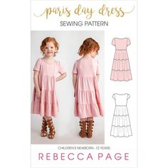 If you liked our Paris Party Dress, then you will love this gorgeous childrens gathered dress sewing pattern for knits: The Paris Day Dress Sewing Patterns For Kids, Dress Sewing Patterns, Pdf Patterns, Clothing Patterns, Casual Day Dresses, Dresses For Teens, Girls Pinafore Dress, Skirt Pattern Free, Beautiful Summer Dresses