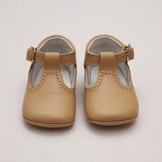 Baby Soft Shoes with T-bar – Beige