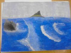 Egy szikla és a hullámok harca :)