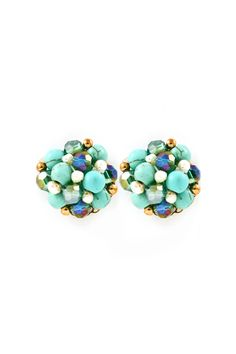 Adorable Turq Pave! Millie Clusters in Turquoise on Emma Stine Limited