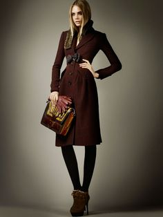 Cara Delevingne for Burberry Pre-Fall 2012 Collection: The cuts, the colors, the bags!