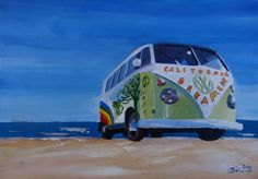 """Surf Bus Series - California Dreaming VW Bus"" by M Bleichner, Munich, Bavaria // Our Surf Bus Series continues . Please welcome the California Dreamin Surf Bus. Can you feel the endless summers? Remember endless sandy beaches. Great swell and surf? Sun, salt and sand on your skin. Surf and turf? Then it is time for our California... // Imagekind.com -- Buy stunning, museum-quality fine art prints, framed prints, and canvas prints directly from independent working artists and photographers."