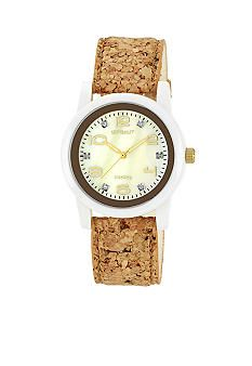 Sprout Round Cork Bracelet with Champagne Dial #belk #accessories