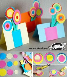 I love TpT! Flowers made with concentric circles