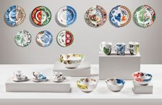 East meets west in Seletti's new Hybrid Collection.    Seletti recently commissioned creative studio CTRLZAK to design a series of porcelain dishware.    The result? Plates, bowls, mugs, and saucers that are pretty much all the table conversation starter you need. These pieces are seriously too pretty to eat off of. Each one features two distinct styles— one Eastern, one Western—divided straight down the middle, and perfectly juxtaposed for a colorful, quirky table setting.