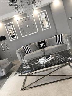 Art Deco Living Room, Living Room Lounge, Living Room Modern, My Living Room, Living Room Designs, Bedroom Bed Design, Home Room Design, Home Design Decor, Dining Room Furniture Sets