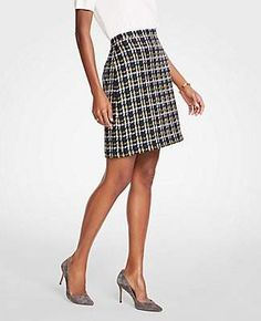 Shop Ann Taylor for effortless style and everyday elegance. Our Tweed A-Line Skirt is the perfect piece to add to your closet. A Line Skirts, Mini Skirts, Extra Petite, Tweed Skirt, Professional Attire, Dress For Short Women, Office Fashion, Office Outfits, Work Wear