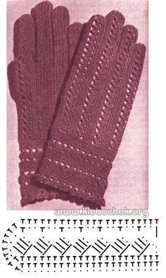Вертикальная вязка перчаток - www.klubochek.org