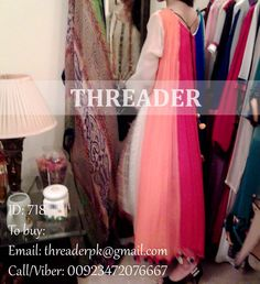 Dress ID: 718 COST: PKR 10,500 To buy: Email: threaderpk@gmail.com Phone/Viber: 00923472076667 Eid Sale - Prices are Negotiable a bit Dress wil be delivered as shown.