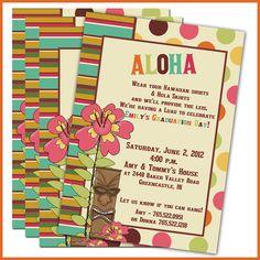 Tiki luau birthday party invitation wording httpwww luau graduation party invitations luau party invitations set of 12 personalized invitations stopboris Gallery
