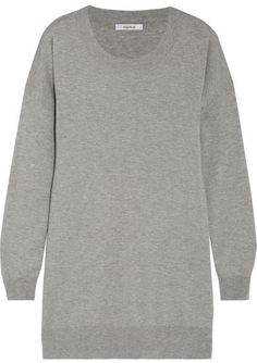 Max Mara - Silk And Cashmere-blend Sweater - Light gray Top Designer Brands 251518bd6