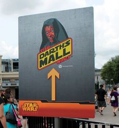 Darth's Mall in the Streets of America and a look at some of the fascinating food options available for Star Wars Weekends