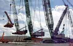 Crane carrying cranes are cool.