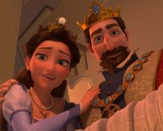Day 24 - Favorite Parents. Rapunzel's Parents, I guess, None of the Disney parents were very great!