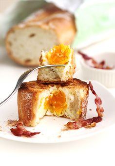 Egg Bacon Baguette Breakfast - 3-Ingredient Recipe