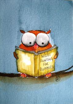 Night hunting for Dummies ~ Artist: Lucia Stewart