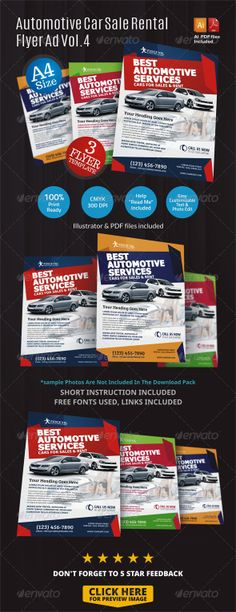 Automotive Car Flyer Ad Indesign Template Indesign templates - car flyer template