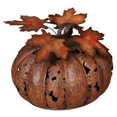 Gerson Metal Harvest Pumpkin Decor