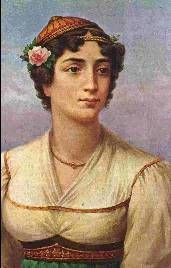 Manto Mavrogenous, Greek heroine of the Greek War of Independence. Lithography by Adam Friedel, 1827 Greek Independence, Greek Warrior, Greek History, Greek Art, In Ancient Times, Badass Women, Military History, Artist, Beautiful