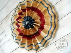 Lake Girl Paints: Painted Canvas Flag Bunting - Pottery Barn Style - tutorial