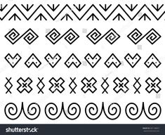 Unique decoration of log houses based on patterns used in traditional embroidery in village of Cicmany, UNESCO World Heritage Site, Slovakia, Vector on white background Floor Patterns, Art Patterns, Log Homes, Pyrography, Pattern Art, Embroidery Patterns, Diy And Crafts, Decoration, Street Art