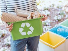 Recycling has numerous positive benefits for people and the environment. It reduces landfill waste, creates jobs, saves money, and conserves natural resources. Take this quiz and see how much you know about recycling! Recycling Facts, Recycling Process, Recycling Center, Recycling Bins, Plastic Recycling, Bottles And Jars, Plastic Bottles, Recycling Business, Recycle Symbol