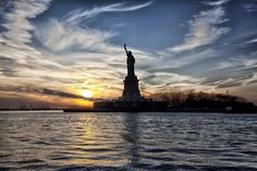 Statue of Liberty - The Statue of Liberty is a colossal neoclassical sculpture on Liberty Island in the middle of New York Harbor, in Manhattan, New York City.